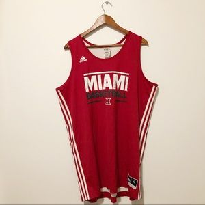 [ adidas ] • #41 Miami basketball jersey